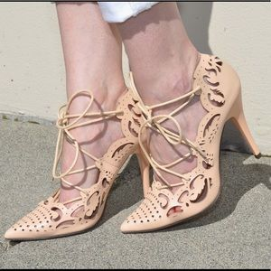 Lace up pumps